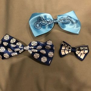 Doctor Who Set of 3 Hair Bow Clip Barrertes